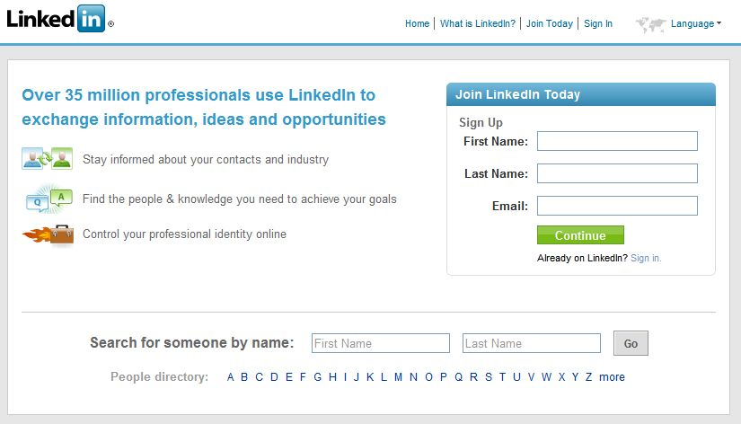 Sign In With Linkedin login to hotel.info with linkedin