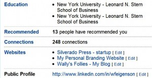 LinkedIn-vanity-URL